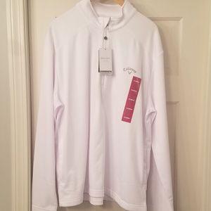 Callaway quarter zip golf shirt, new, mens